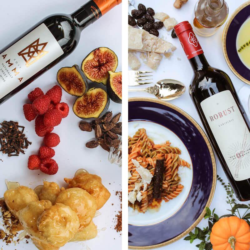 wijnen en hapjes